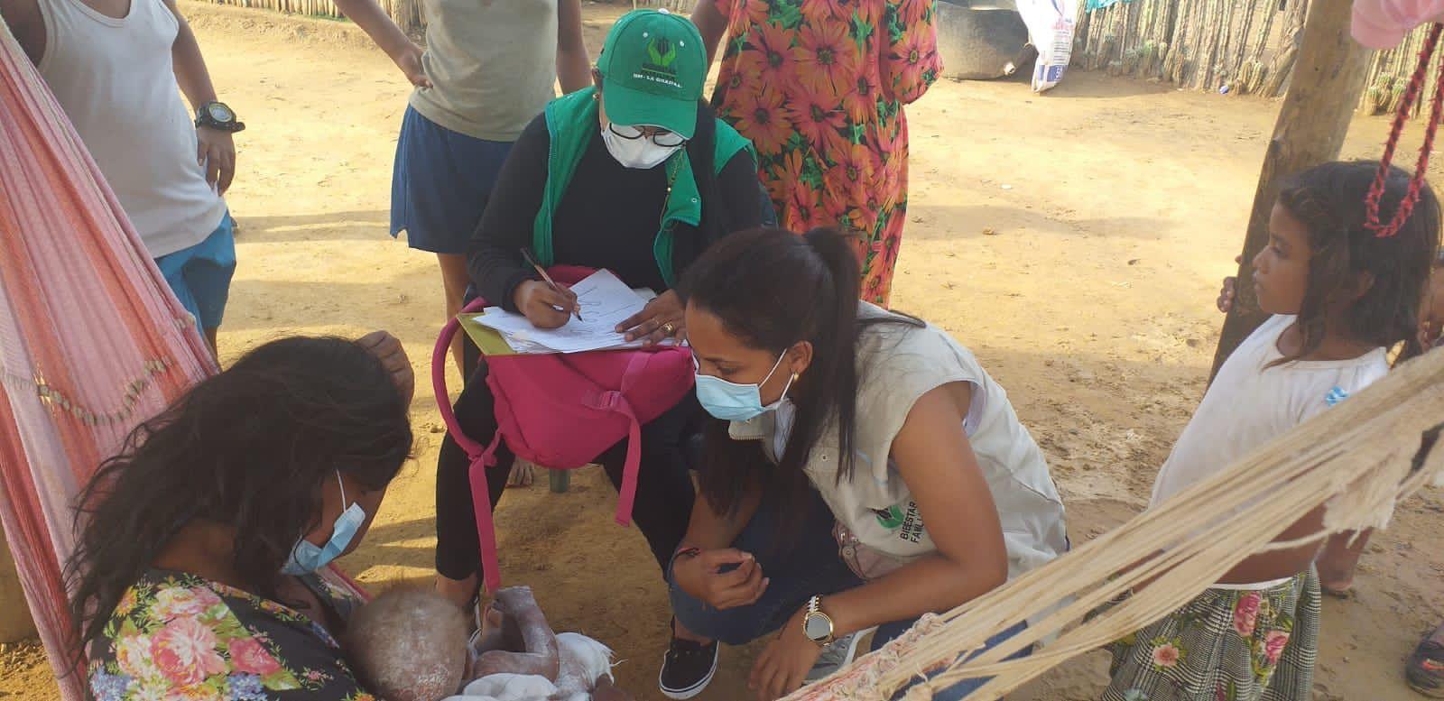 ICBF rescata a niño en condición de desnutrición en Uribia, La Guajira
