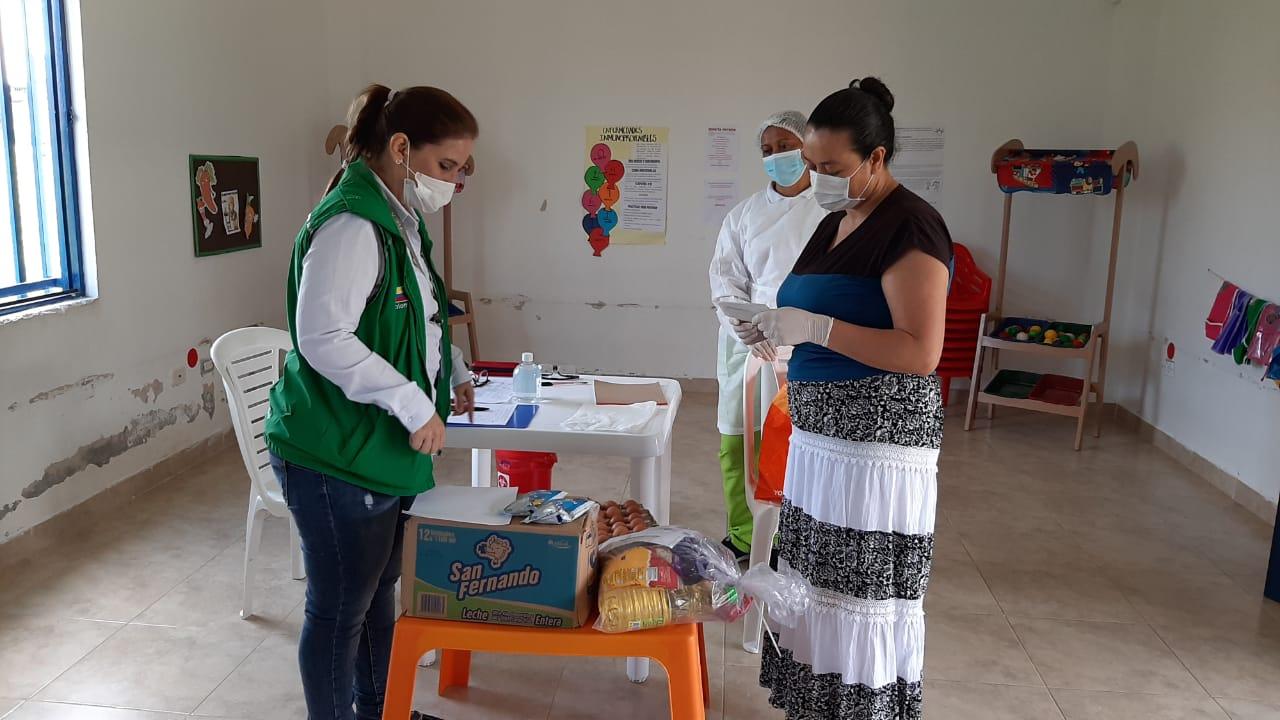 ICBF llega al 55% de la meta para entrega de canastas alimentarias en Quindío