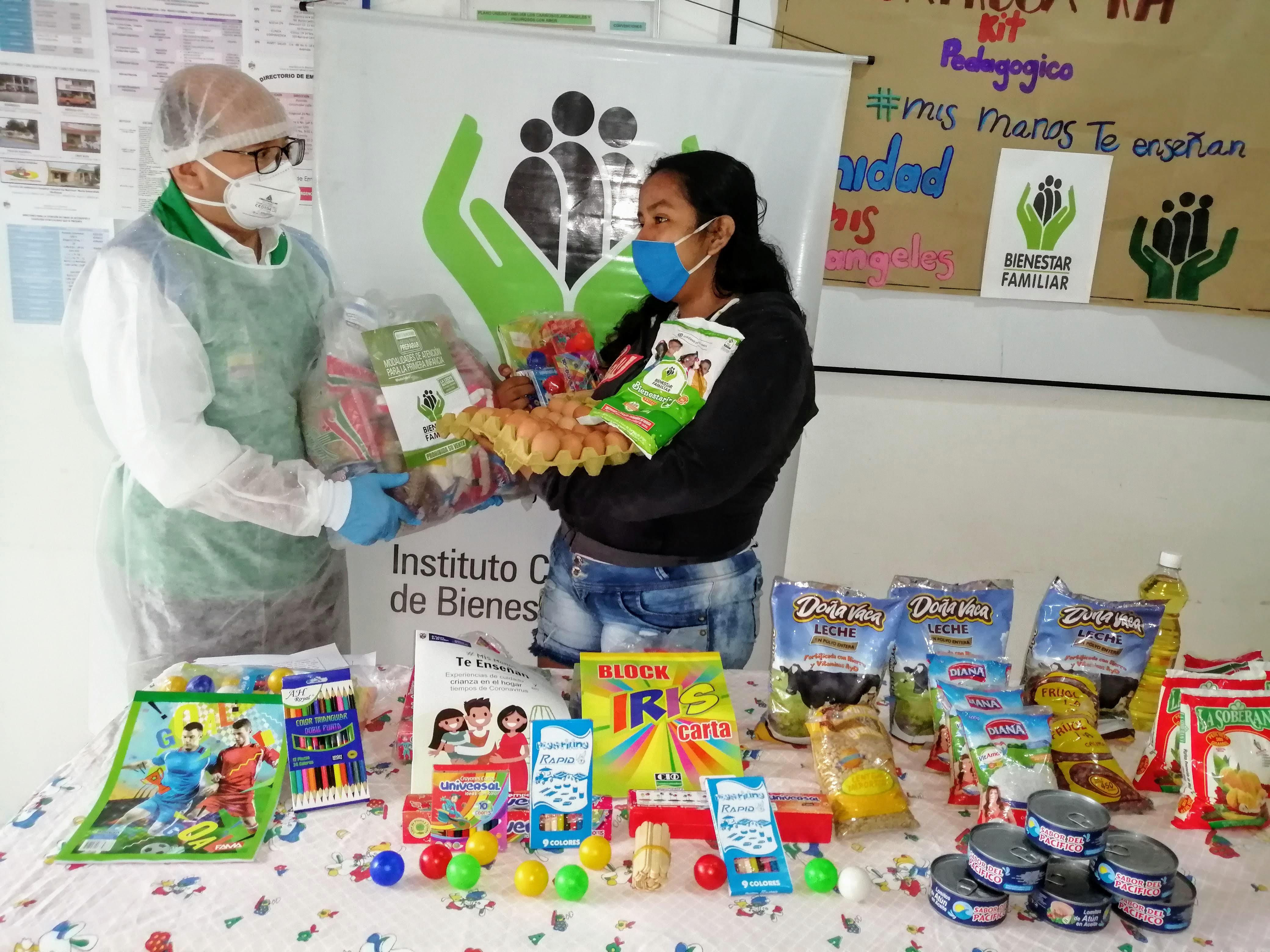 ICBF llegó a más de quince mil familias con canastas alimentarias en Caquetá