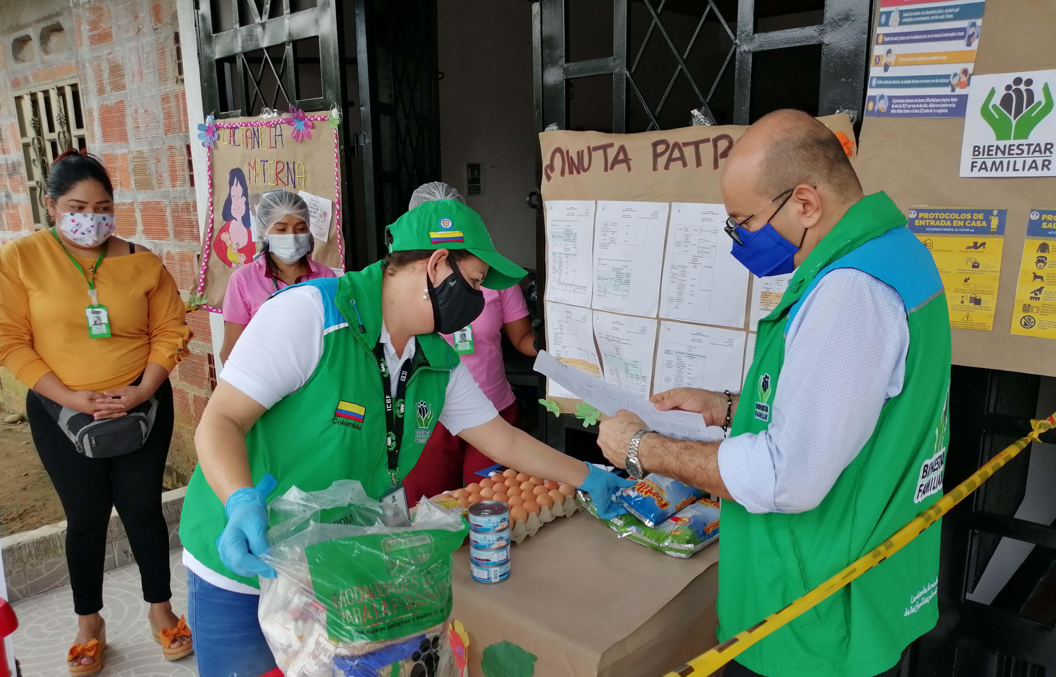 ICBF entregó más de 100 mil canastas alimentarias a las familias del Caquetá