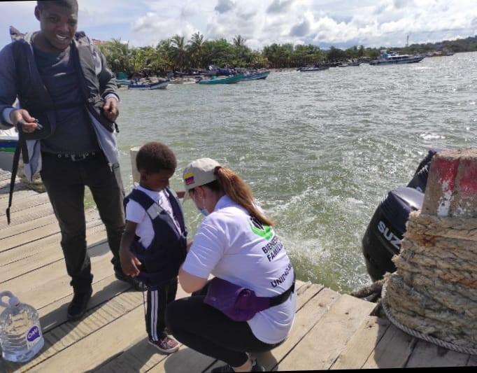 ICBF sigue brindando atención a migrantes en el municipio de Necoclí, Antioquia
