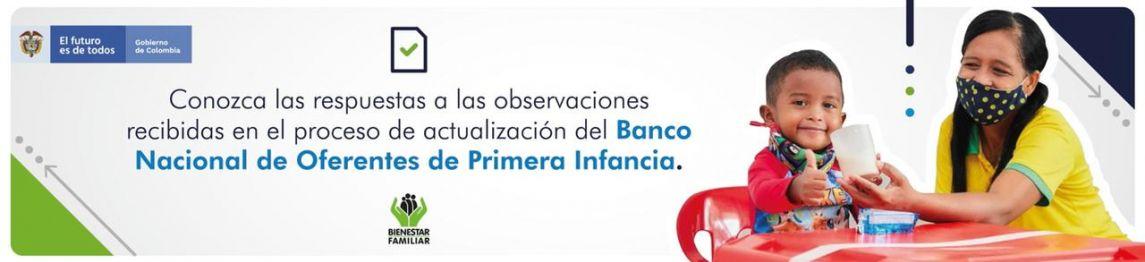 Observaciones al proceso de actualización del Banco Nacional de Oferentes de Primera Infancia