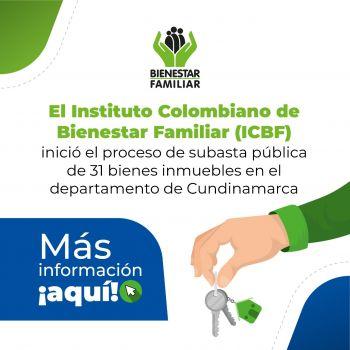 ICBF subastará 31 inmuebles en Colombia