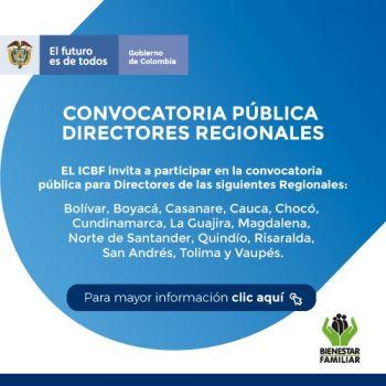 Convocatoria Directores Regionales