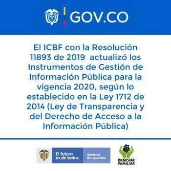 Actualización de los Instrumentos de Gestión de Información Pública