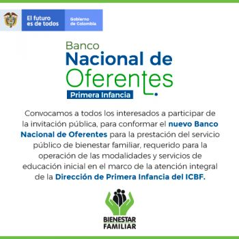 BANCO NACIONAL DE OFERENTES PRIMERA INFANCIA