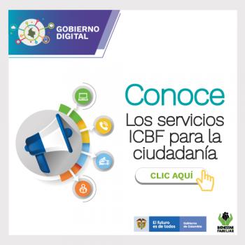 Servicios ICBF para la ciudadanía, EN LÍNEA, WhatsApp Envía mensaje a través de la aplicación desde tu celular