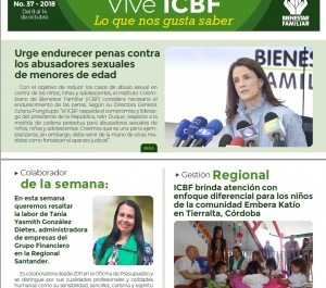 Boletín Vive ICBF No. 37