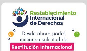Desde ahora el trámite de Restitución Internacional y Regulación Internacional de Visitas se puede hacer en línea