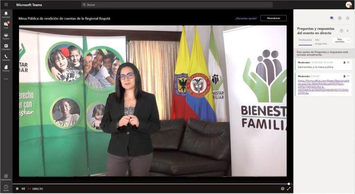 Ante comunidad el ICBF lideró Rendición de Cuentas en Bogotá