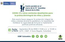 Colombia, anfitrión del evento paralelo en el marco de la 75 Asamblea General de la ONU