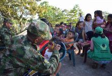 ICBF y Ejército se articulan para promocionar los derechos de la niñez  en Leticia