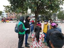ICBF acompaña de manera permanente a familias Embera asentadas en parque Tercer Milenio de Bogotá
