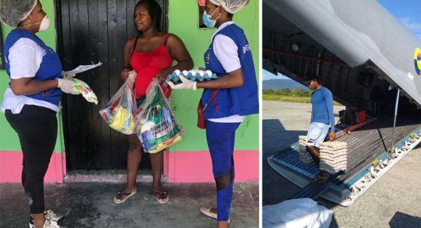 ICBF, con apoyo de la Fuerza Aérea, traslada 20 toneladas de alimentos para familias del Chocó