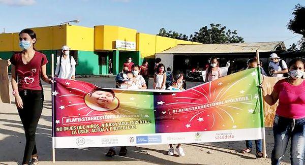 Generaciones Sacúdete 2.0 del ICBF se movilizan en contra del uso de pólvora en Sucre