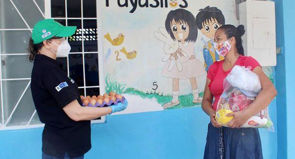 ICBF avanza con la entrega de canastas alimentarias para usuarios de primera infancia en Santander